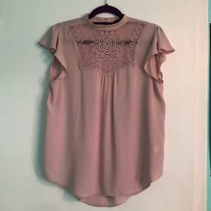 Express Lace-Detailed Blouse